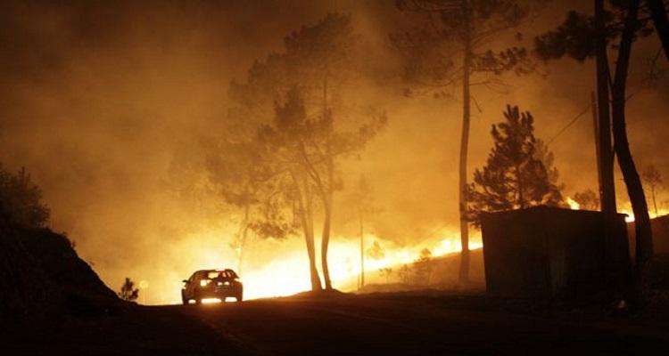 Fundão. Várias aldeias na linha do fogo na Serra da Gardunha